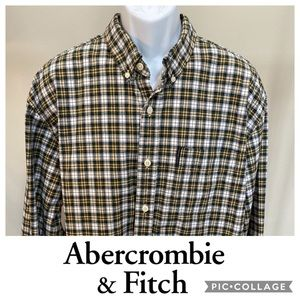 Men's Size XXL High Quality Cotton Plaid Shirt